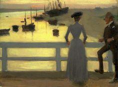 Steer, Philip Wilson (English, 1860-1942) - The Bridge - 1887