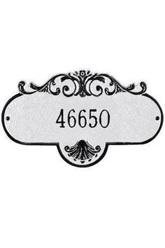 Rochelle One-Line Standard Wall Address Plaque - standard/1 line, White by Home Decorators Collection. $85.00. Rochelle One-Line Standard Wall Address Plaque - It's Your Own Little Corner Of The World - So Why Not Mark It With Pride? A House Sign Announces A Message Of Distinction. These Premium, Textured And Dimensional Address Plaques Are Designed With Large Letters And Numbers For Maximum Visibility. Choose From Our Exceptional Array Of Custom Address Plaques To Find The Ho...