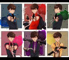 画像に含まれている可能性があるもの:1人以上 Anime People, Anime Guys, Osomatsu San Doujinshi, Ichimatsu, Cute Anime Boy, Haikyuu Anime, Anime Style, Yandere, Mafia