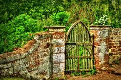 Old garden gate ~ photo taken in Finedon, Northhamptonshire, UK by Victoria Field