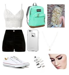 """""""Spring"""" by xxashleyxxxx on Polyvore featuring River Island, Converse, JanSport, LifeProof, LC Lauren Conrad and Topshop"""