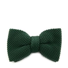Green Tied Knitted bow tie