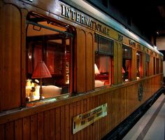 "This is one of the few preserved wagons belonging to the original Orient Express.  Place: ""Spoorwegmuseum"" in Utrecht."