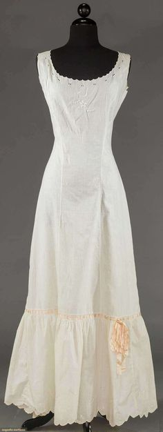 WHITE PRINCESS SLIP, 1900-1910