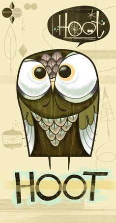 Hoot Hoot by Fantastic Hysteria, owl, illustration Art And Illustration, Illustrations Posters, Graffiti, Owl Always Love You, Owl City, Art Graphique, Cute Owl, Art Design, Graphic Design
