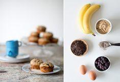 Banana, almond butter & chocolate gluten-free muffins