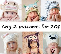 I can't knit, but if I could...    SALE ANY 6 PDF Patterns for 2000 by BeezyMomsCreations on Etsy, $20.00