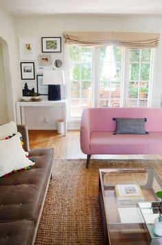 Clara & Sam's Warm & Inviting Rockridge Home - table for entry