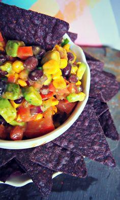 Sweet Bean and Avocado Salsa- For Vegan Tailgating – Simply Taralynn