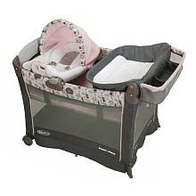 Graco Pack 'n Play with Cuddle Cove Premiere Rocking Seat Play Yard - Minnie's Garden - $219.99