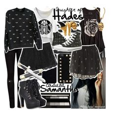 """""""Hades"""" by am-i-not-fictional ❤ liked on Polyvore featuring NARS Cosmetics, Ted Baker, Kenzo, Valentino, Lucky Brand, Reverse, shu uemura, Converse, Alexander McQueen and percyjackson"""