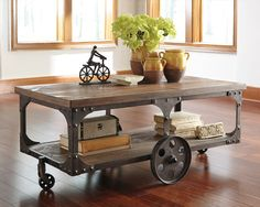 coffee table with wheels … | pinteres…