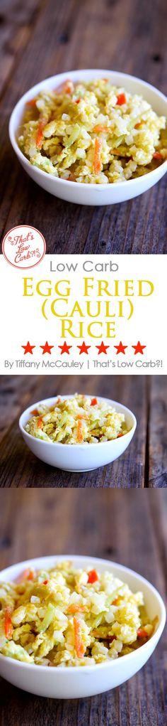 Low Carb Recipes | Egg Fried Rice Recipe | Egg Fried Cauliflower Rice Recipe | Low Carb Asian Food Recipes