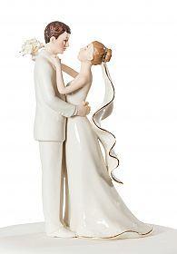 Porcelain Bride and Groom Wedding Cake Top Figurine