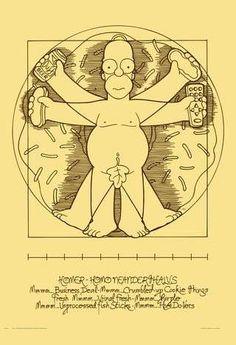 Poster The Simpsons 1 Paródia Leonardo Da Vinci 42x30cm  30 reais  vou comprar!!!!