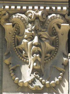 Green Man Horned Bat Face Gargoyle 6138 - a photo on Flickriver