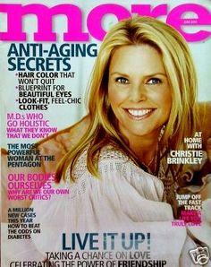 2003 More Magazine Christie Brinkley Christie Brinkley, Swimsuit Edition, Glamour Magazine, Vogue Patterns, People Magazine, Aging Gracefully, Beautiful Eyes, Beautiful Women, Covergirl