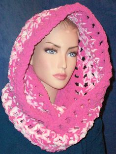 Hey, I found this really awesome Etsy listing at https://www.etsy.com/listing/237731874/pink-chunky-infinity-scarf-pink-crochet