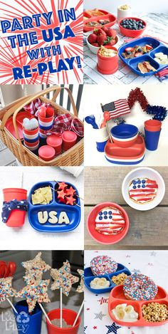 Create the perfect summer party with our patriotic set! #4ofjuly