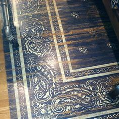 While design ideas for the painted wood floors are plenty, the hottest trends today are stenciled floors and painted floor rugs. And this can be a fantastic DIY project. You can paint a gorgeous. Painted Wooden Floors, Painted Rug, Wooden Flooring, Painted Furniture, Kid Furniture, Laminate Flooring, Furniture Makeover, Stencil Rug, Stencil Painting