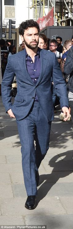 Aidan Turner stepped out solo on Friday, as he attended the the Oliver Spencer SS18 show during London Men's Fashion Week.
