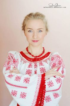 """""""Silvia Floarea Toth, a young woman that is considered an ambassador for Romania, an idol for the traditional clothing from her native area, Nasaud. She started sharing her self portraits wearing her grandmother traditional blouse. Traditional Fashion, Traditional Outfits, Ethnic Fashion, Womens Fashion, Fashion Trends, Romanian Women, Costumes Around The World, We Are The World, Folk Costume"""
