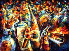 Leonid Afremov. Jazz ¿people?