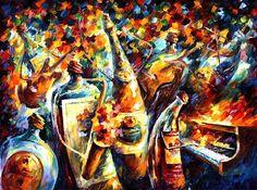 Leonid Afremov. Jazz ¿people?