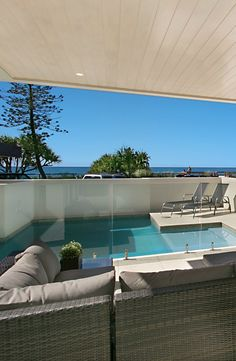 Private pool at Elite Holiday Home, Oceans 74. #luxuryhomes #luxury #beachfront #eliteholidayhomes #affordableluxury #goldcoast #holiday #travel #australia  https://www.eliteholidayhomes.com.au/properties/oceans/