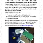 Parent Volunteer Bags in English and Spanish!