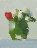Rosebuds / Jar, Stanley Bielen, oil on panel - The Munson Gallery