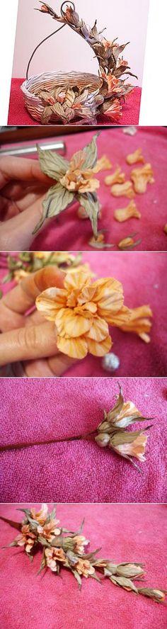 Очень красивые цветы из бумаги. | декор, упаковка, разное | Постила