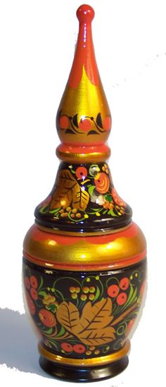 Russian Khokhloma | Russian Khokhloma, hand-painted woodware from Kremlin Gifts