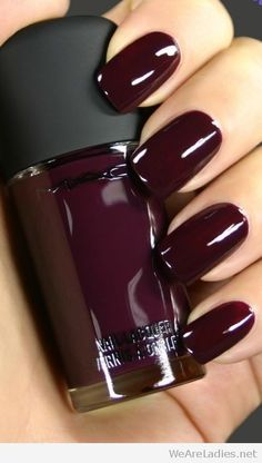 MAC burgundy nail polish