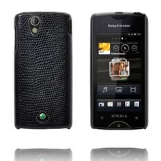 Croco (Sort) Sony Ericsson Xperia Ray Deksel