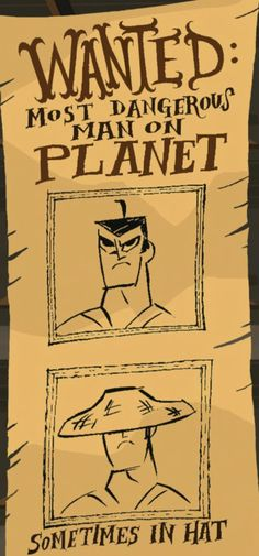 Samurai Jack Wanted poster Samurai Jack, Samurai Bravo, Geek Games, Another Anime, Old Cartoons, Nostalgia, The Past, Nerd, Humor