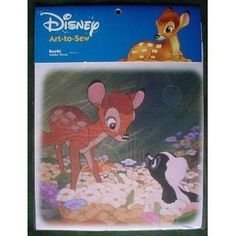"DISNEY Art-to-sew 8"" Cotton Fabric Print Square for CRAFTS & QUILTS (BAMBI ""Hidden Flower"") by Disney, http://www.amazon.com/dp/B008FQ11EK/ref=cm_sw_r_pi_dp_CHNsrb0R7MDTJ"