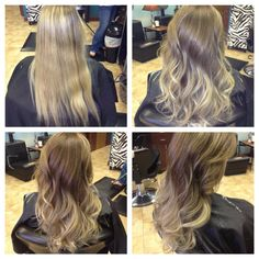 pretty blond ombre