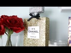 By popular request, here is a great room decoration DIY! In this video, we will be making a Chanel No. 5 Perfume Decoration and secret storage box or jewelry. Chanel Room, Chanel Decor, Chanel Party, Hermes Perfume, Ideias Diy, Glam Room, Diy Projects To Try, Hobbies And Crafts, Diy Room Decor