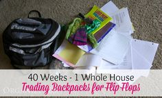 Check your kid's backpacks RIGHT away on the last day of school to see how much summer homework you might have!