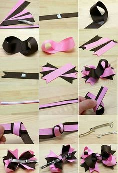 45 Ideas Hair Accessories Flower Girl Bow Tutorial - New Ideas Making Hair Bows, Diy Hair Bows, Diy Bow, Bow Hair Clips, Bow Making, Hair Ribbons, Ribbon Bows, Diy Ribbon, Grosgrain Ribbon