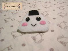 Handmade pin of an Onigiri