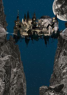 """""""Hay un precipicio entre dos montañas abruptas: la ciudad está en el vacío, atada a las dos crestas por cuerdas y cadenas y pasarelas. Ésta es la base de toda la ciudad: una red que sirve para pasar y sostener. Todo lo demás, en vez de alzarse encima, cuelga hacia abajo: escalas de cuerda, hamacas, casas en forma de bolsa. """"Suspendida en el abismo, la vida de los habitantes de Octavia es menos incierta que en otras ciudades. Saben que la resistencia de la red tiene un límite""""."""
