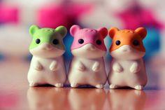 Iwako Hamster Erasers!