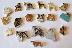 Floating Dog Breed Charms choose 1...see availibility by bbjewelry