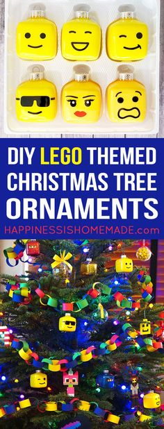 Kids' LEGO Themed Christmas Tree! What a fun idea for kids to make this holiday season! #legoprojectsforkids