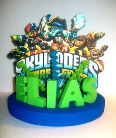 Swap Force Custom Personalized Cake Topper By Tishtoppers 39 00 Skylanders