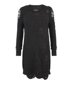 drama distressed jumper dress