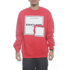 clothing: [@] Check Cost [!!] 8&9 Clothing: Quatro Crewneck Sweatshirt Red, Sweaters for Men Buy Today