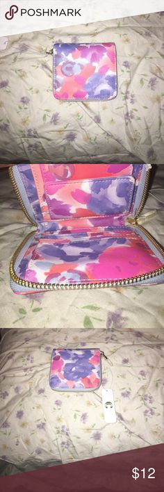 Pink multicolor wallet Pink multi color wallet from charming Charlie's. Bags Wallets